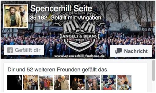 Facebook Seite der Spencerhill Fanbase